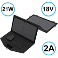 AllPowers SP18V21W Foldable Solar Panel - 21W - Black