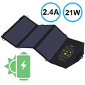 AllPowers SP5V21W Foldable Solar Panel - 2.4A - Black