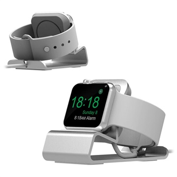 Aluminum Alloy Apple Watch Series 5/4/3/2/1 Charging Station - Silver
