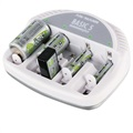 Ansmann Basic 5 Plus Battery Charger - AAA/AA/C/D/9V - White