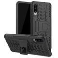 Anti-Slip Samsung Galaxy A70 Hybrid Case with Kickstand - Black