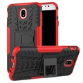 Samsung Galaxy J7 (2017) Anti-Slip Hybrid Case - Red / Black