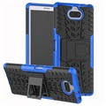 Anti-Slip Sony Xperia 10 Hybrid Case - Blue / Black
