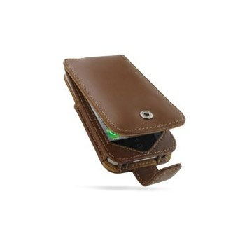 iPhone 4 / 4S PDair Leather Case 3TIPP4F41  - Brown