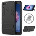 Huawei P Smart Armor Hybrid Cover with Kickstand - Black