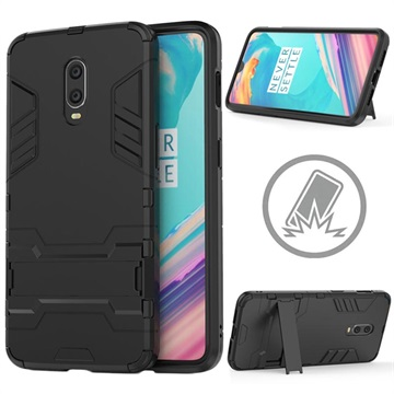 Armor Series OnePlus 6T Hybrid Case with Stand - Black