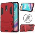 Armor Series OnePlus 6T Hybrid Case with Stand - Red