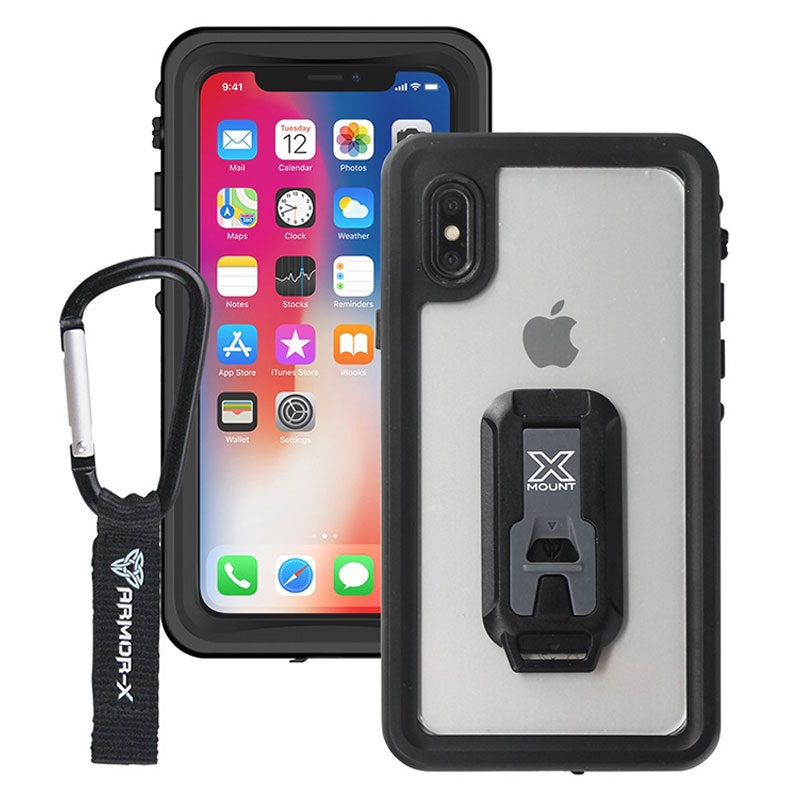 new concept 823a3 c168b iPhone X / iPhone XS Armor-X MX-IPHX-BK Waterproof Case