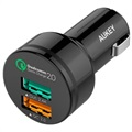 Aukey CC-T1 Dual USB Rapid Car Charger - Black