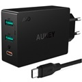 Aukey PA-Y4 Qualcomm QC3.0 Wall Charger - 3-Port - 7.8A