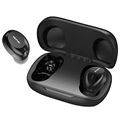 Awei T20 Water Resistant TWS Earphones with Microphone - Black