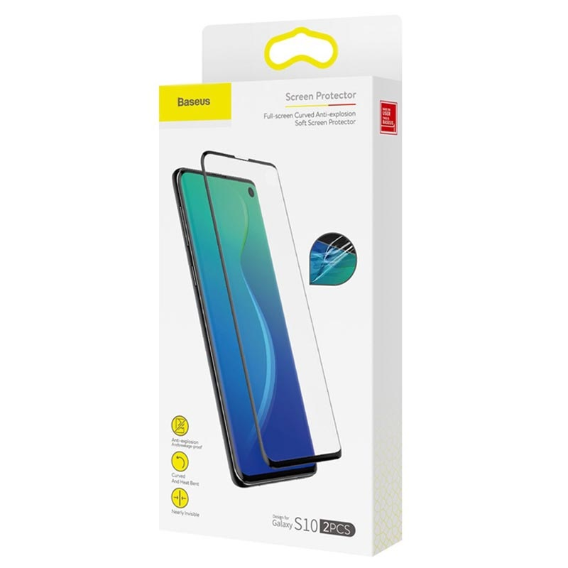 Baseus 0.15mm Full Coverage Samsung Galaxy S10 Screen Protector - 2 Pcs.