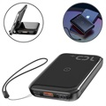 Baseus Mini S 2-in-1 Fast Power Bank & Wireless Charger - 10000mAh - Black