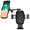 Baseus Adjustable Car Holder & Qi Wireless Charger WXZT-01 - Black