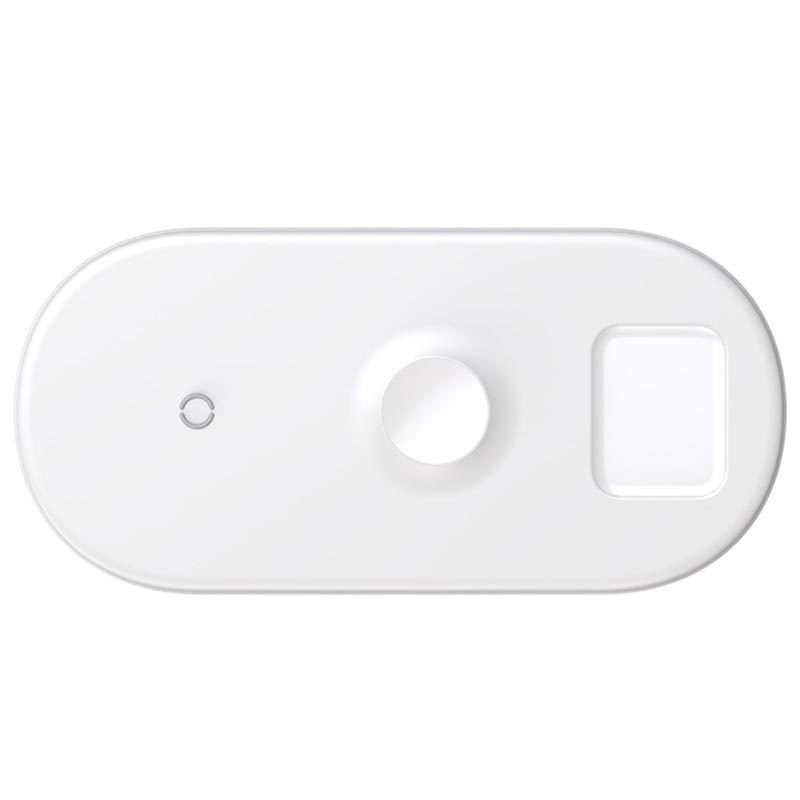 Baseus BS-IW04 Smart 3-in-1 Qi Wireless Charging Pad - 18W - White