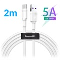 Baseus DZ-SMT Double-ring SuperCharge USB-C Cable - 5A, 2m - White