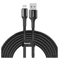 Green Cell Power Stream Braided USB-C / Lightning Cable - 1m - Black