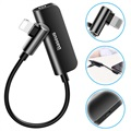 Baseus L50S 3-in-1 Lightning to 3.5mm Adapter - Black