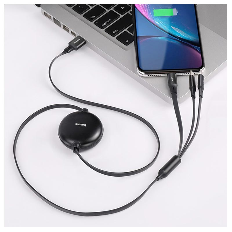 Baseus Little Octopus 3-in-1 Cable - Lightning, USB-C, MicroUSB