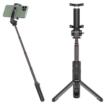 Baseus Selfie Stick & Tripod Stand with Remote Control - Gold / Black