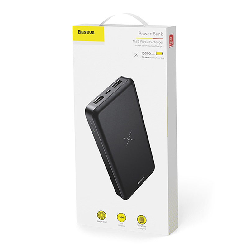 Baseus M36 Wireless Charger / Power Bank - 10000mAh - Black