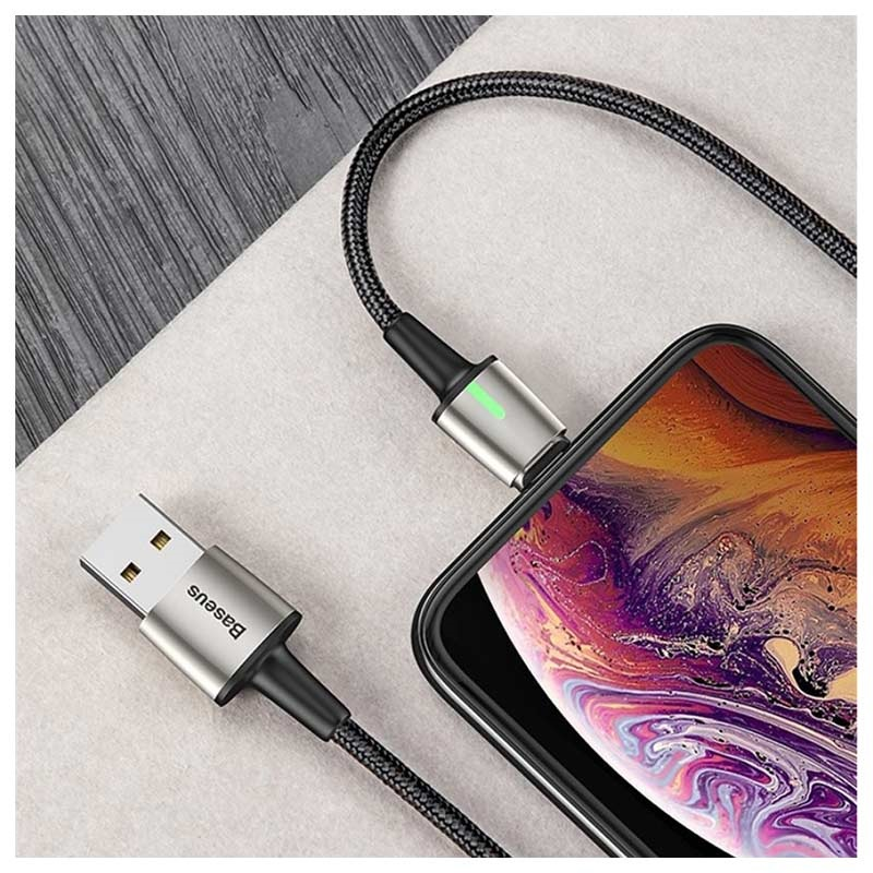 Baseus Magnetic 3-in-1 Cable - Lightning, USB-C, MicroUSB - 1m