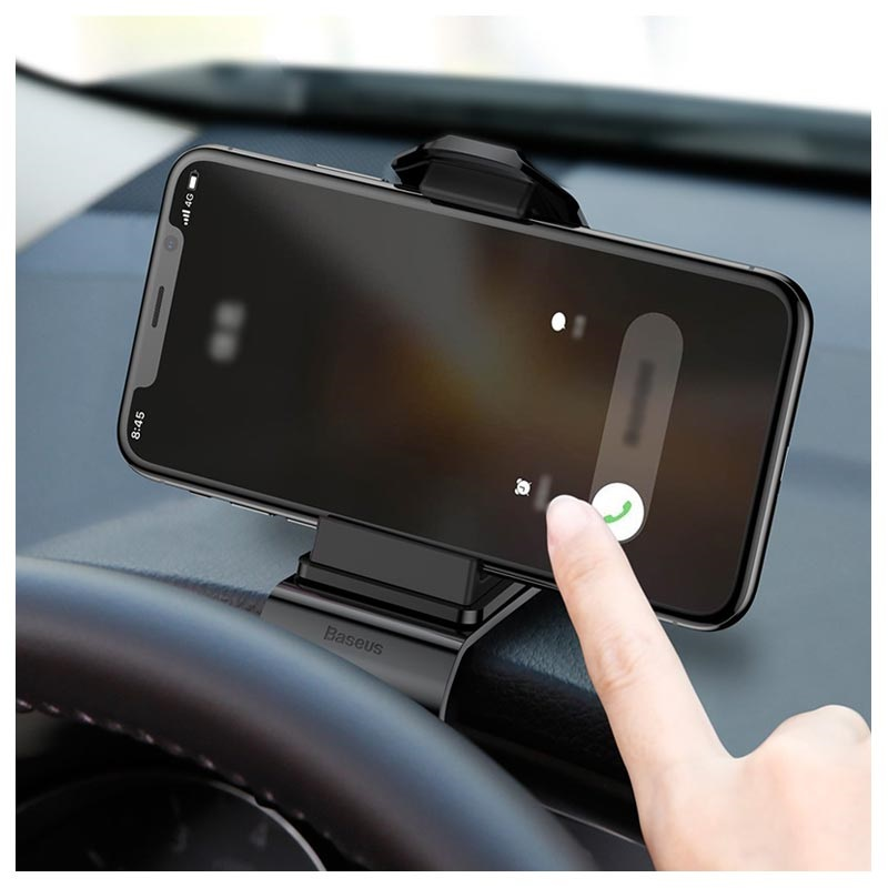 "Baseus Mouth Dash Mount Car Holder SUDZ-01 - 3.5""-7"" - Black"