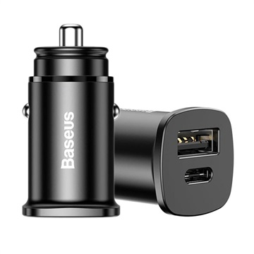 Baseus PPS 30W Car Charger - USB-C PD, QC4.0/3.0, SCP, AFC - Black