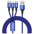 Baseus Rapid Series 3-in-1 Cable CAMLT-SU13 - 1.2m - Blue
