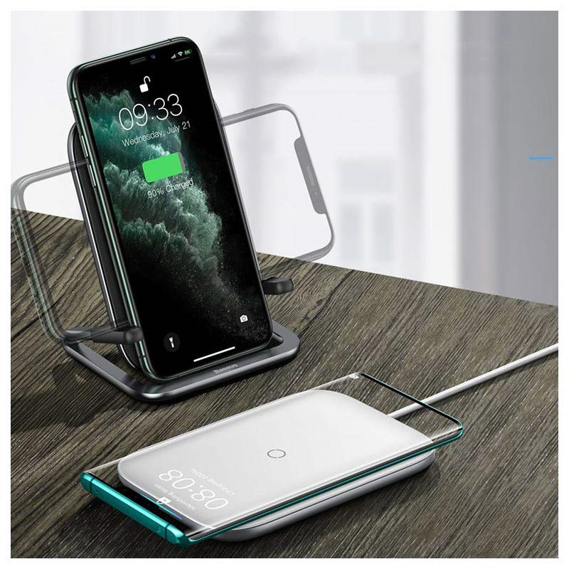 Baseus Rib Fast Wireless Charging Stand - 15W