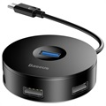 Baseus Round Box 4-port USB 3.0 Hub with USB-C Cable