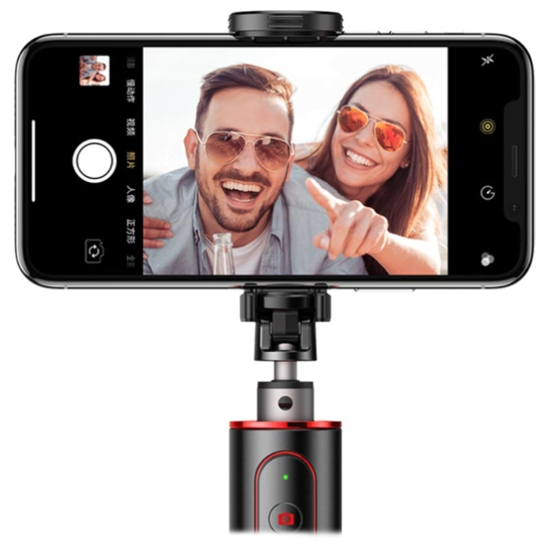 Baseus Selfie Stick & Tripod Stand with Remote Control - Red / Black