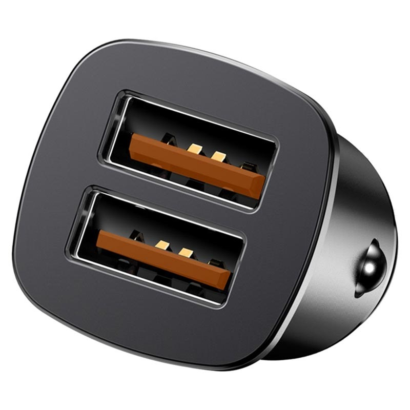 Baseus Square CCALL-DS01 QC3.0 Fast Car Charger - 30W - Black