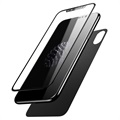 iPhone X Baseus Tempered Glass Protection Set - Black