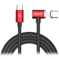Baseus Type-C Magnet Cable for MacBook - L-Shape - Red