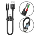Baseus U-shape Type-C Cable with Lightning Adapter - Black