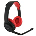 BeeWi BBH105 Bluetooth Stereo Headphones - Black / Red