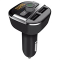 Bluetooth FM Transmitter & Dual USB Car Charger BT20 - Black