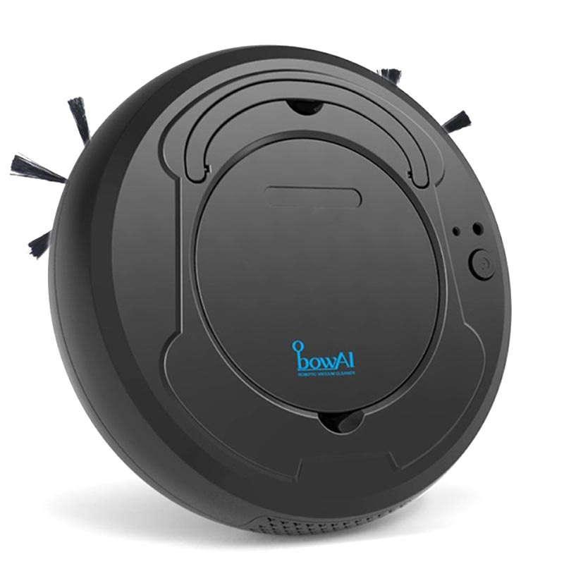 BowAI 3-in-1 Smart Robot Vacuum Cleaner - 1200Pa, 28W - Black