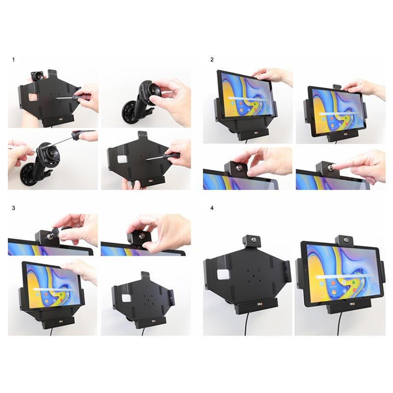 Brodit 735079 Samsung Galaxy Tab A 10.5 Active Car Holder