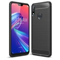 Brushed TPU Asus Zenfone Max Pro (M2) ZB631KL Cover - Carbon Fiber