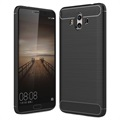 Huawei Mate 10 Brushed TPU Case - Carbon Fiber - Black