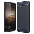Huawei Mate 10 Brushed TPU Case - Carbon Fiber - Dark Blue