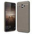 Huawei Mate 10 Brushed TPU Case - Carbon Fiber - Grey