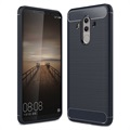 Huawei Mate 10 Pro Brushed TPU Cover - Carbon Fiber - Dark Blue