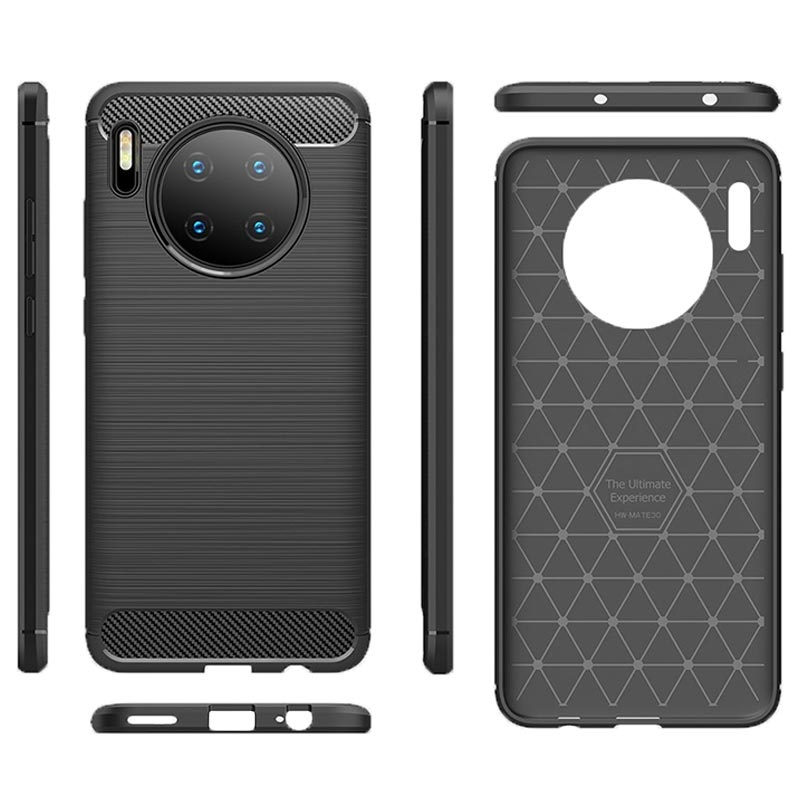 Huawei Mate 30 Brushed TPU Case - Carbon Fiber