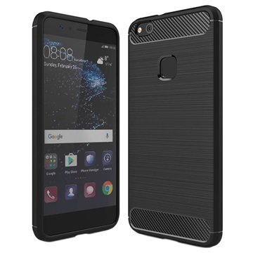 Huawei P10 Lite Brushed TPU Case - Carbon Fiber