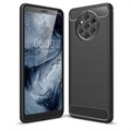 Brushed TPU Nokia 9 PureView Cover - Carbon Fiber - Black