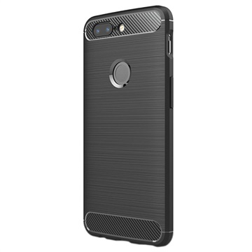 OnePlus 5T Brushed TPU Cover - Carbon Fiber