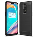 OnePlus 6 Brushed TPU Case - Carbon Fiber